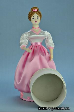 Фото красивая шкатулка кукла для хранения вещиц
