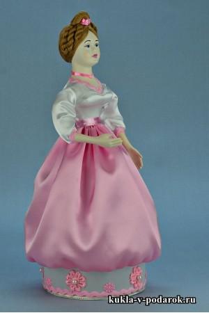 Фото красивая шкатулка кукла ручной работы