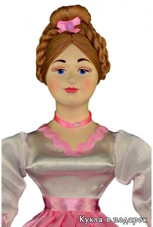 Голова куклы шкатулки красиво расписана вручную