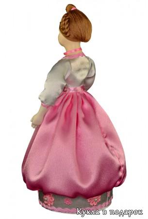 Красивый подарок шкатулка фарфоровая кукла