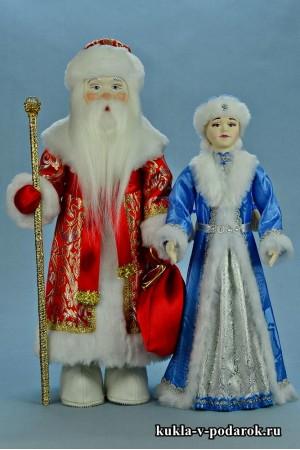 Новогодний подарок авторские куклы Дед Мороз и Снегурочка
