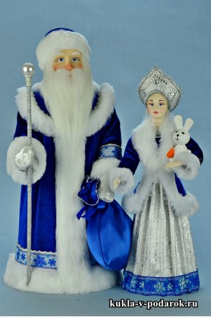 Новогодние игрушки Дед Мороз и Снегурочка