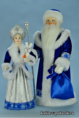Игрушки на Новый год куклы Дед Мороз Снегурочка