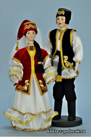 Сувенирные куклы подарок татарке и татарину
