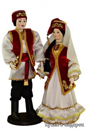 Красивый национальный сувенир татарские куклы