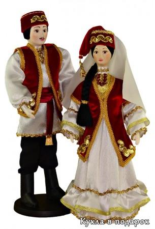 Сувенир куклы татарские мужчина и женщина