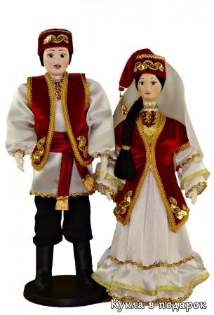 Татарские сувенирные куклы в национальных костюмах