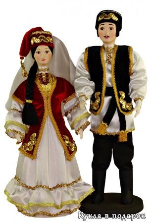 Праздничный костюм куклы сувениры татарин и татарка