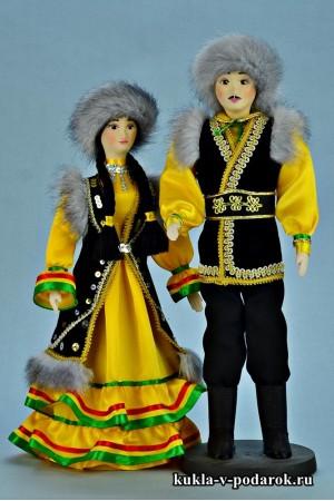 Красивые башкирские куклы мужчина и женщина