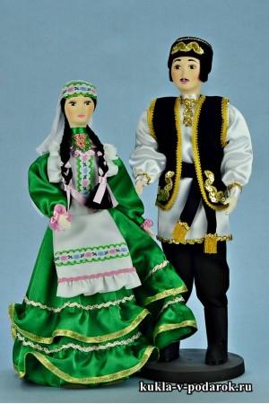 Текстильные куклы татарин и татарка