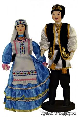 Красивые татарские текстильные куклы ручная работа