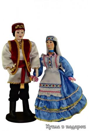 Оригинальный подарок текстильные куклы в татарском костюме