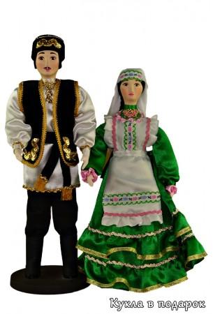 Нарядные татарские национальные текстильные куклы