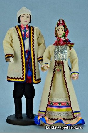 Недорогие марийские куклы в национальном костюме
