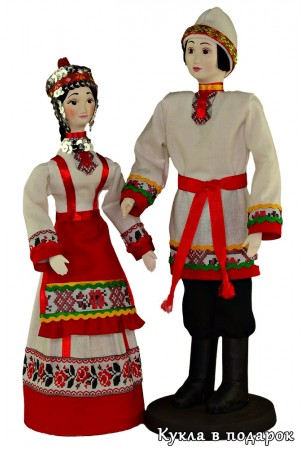 Авторские куклы в чувашской национальной одежде