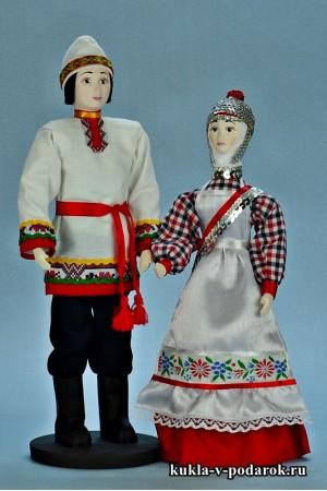 Национальные сувенирные чувашские куклы