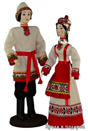 Национальная одежда чувашей куклы ручной работы