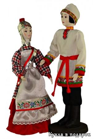 Набор кукол в национальных костюмах Чувашии