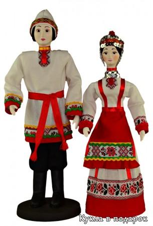 Куклы в чувашском национальном наряде