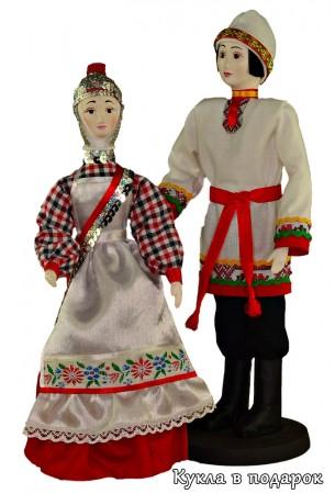 Подарок в национальном стиле чувашские куклы