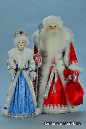 фото русские куклы на Новый год Дед Мороз и Снегурочка