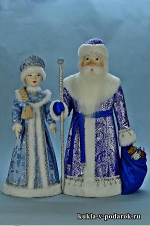 Авторские куклы под елку ручной работы Дед Мороз и Снегурочка