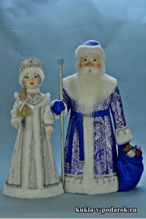 Готовые куклы ручной работы Дед Мороз и Снегурочка