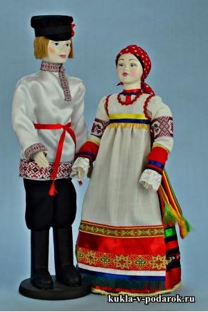 Красивые народные куклы московский сувенир