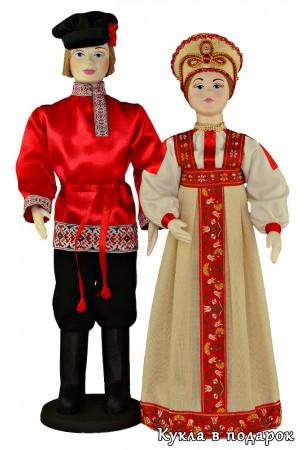 Фото куклы в московском народном костюме