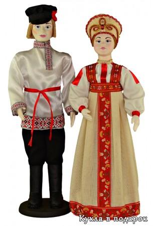 Подарок ручной работы - куклы в народной одежде