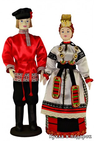 Куклы в народных костюмах русских мужчин и женщин