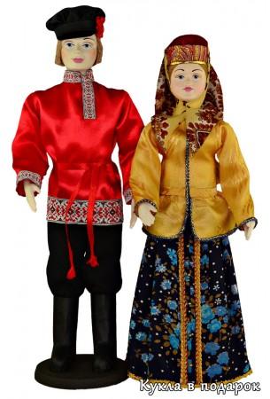 Недорогой подарок пара народных кукол из Москвы