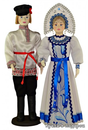Русские мужчина и женщина куклы в подарок