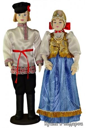 Народная кукла в праздничном нижегородском костюме