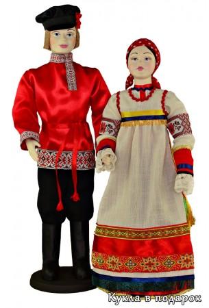 Кукла в народном костюме курской губернии Россия