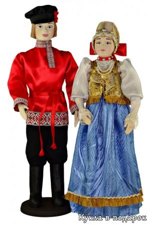 Традиционный славянский костюм на народной кукле