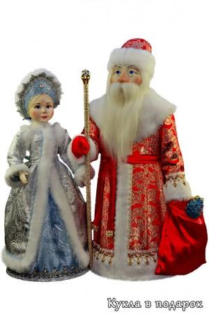 Дед Мороз и Снегурочка в подарок детям на Новый год