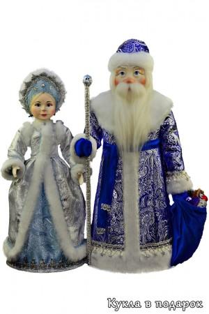 Набор кукол Дед Мороз и Снегурочка в подарок на Новый год