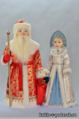 Елочные игрушки Дед Мороз и Снегурочка