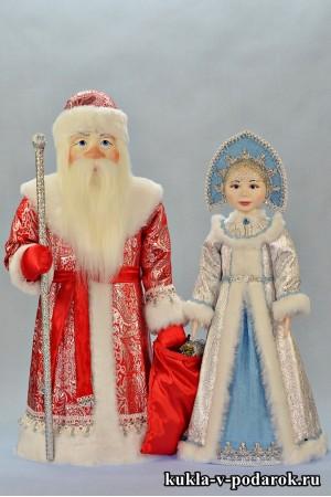 Игрушки Дед Мороз и Снегурочка подарок под елку