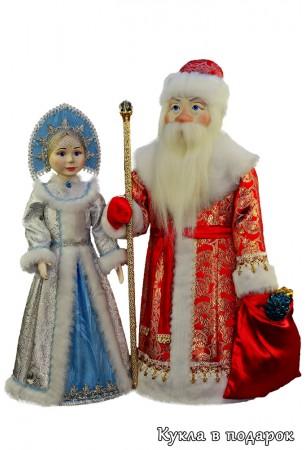 Авторские елочные игрушки Дед Мороз и Снегурочка