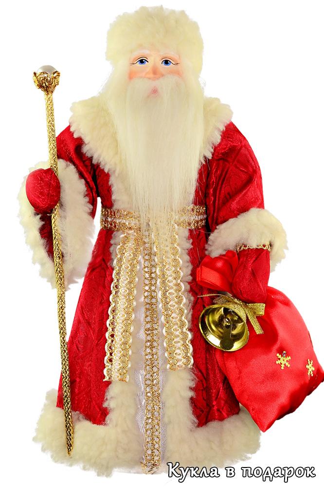Новогодний русский Дед Мороз красный нос