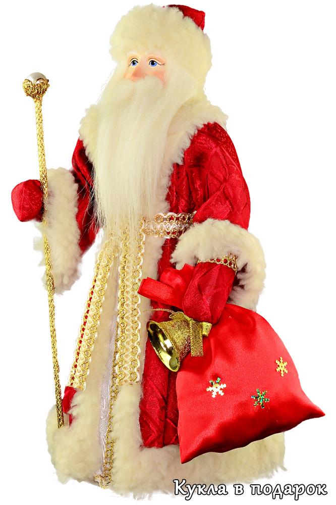 Кукла Дед Мороз Красный нос