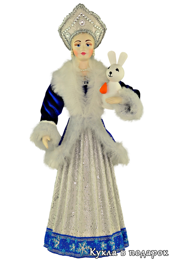 Кукла из СССР Снегурочка в кокошнике