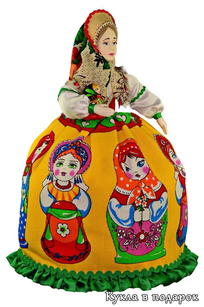 Кукла Матрешка грелка на чайник