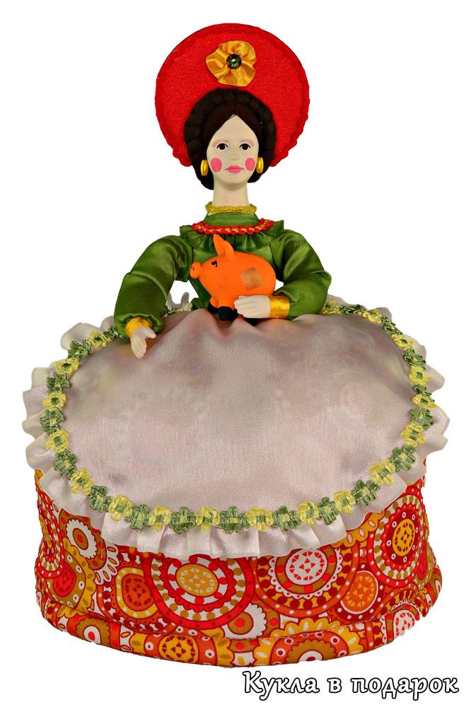 Дымковская игрушка Барыня кукла грелка на чайник
