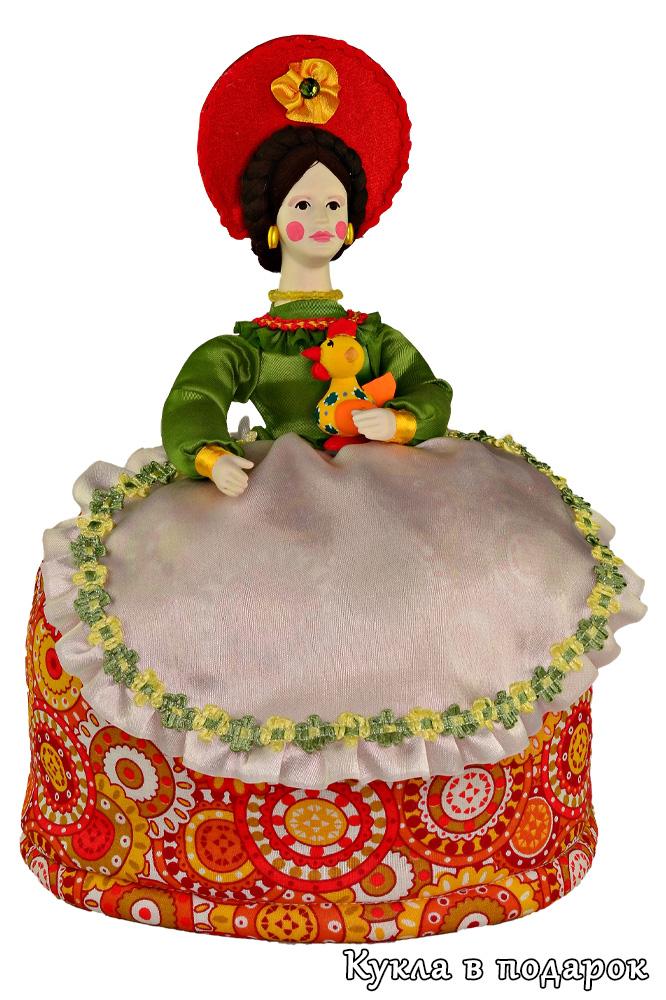 Кукла грелка дымковская барыня