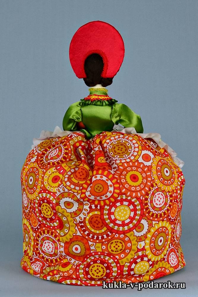 Кукла дымковская Барыня на чайник