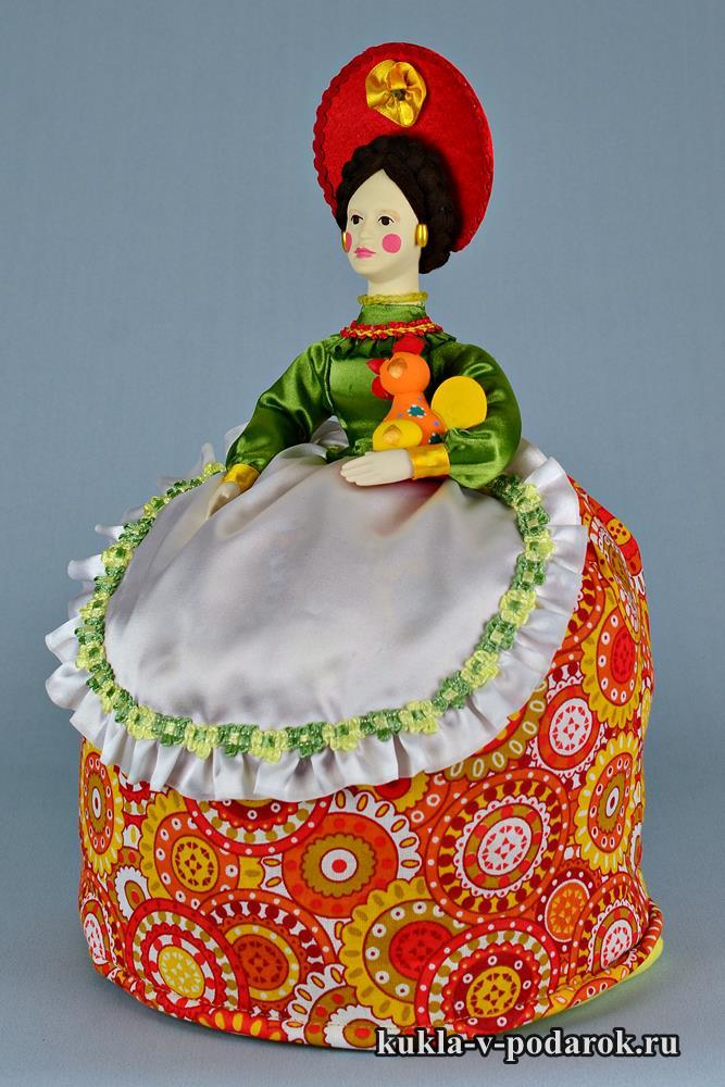 Дымковская Барыня с петухом