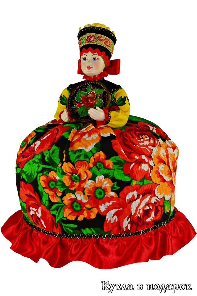 Кукла с подносом из Жостово